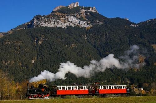 Il trenino della Achenseebahn in marcia - Foto da www.sephys.de