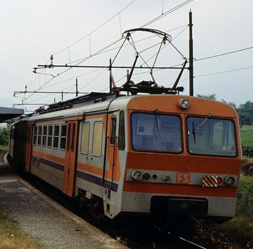ALe 724.052 + Le 884.192 + ALe 724.060 - Bibiana (TO) - 14 giugno 1991- Foto © Franco Pepe dal bellissimo http://littorina.net