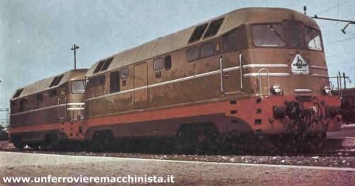 I due prototipi della D.342 Ansaldo - Foto © bartolomeo Fiorilla da www.unferrovieremacchinista.it