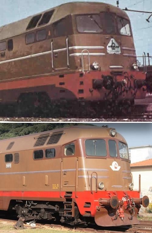 A confronto le carenature originarie dei prototipi (in alto) con la versione definitiva (in basso)