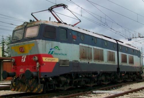 E.655.243 della divisione Cargo - Foto © MarcoTAF da www.trenomania.org