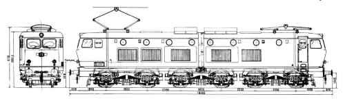 DIsegno quotato della E.656 prima serie - fa Rotaie.it