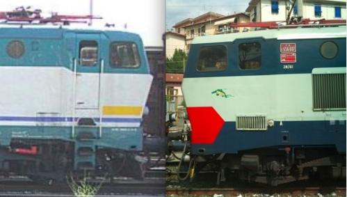 La 211 a sinistra (foto mattiast dal forum di www.ferrovie.it) e la 607 a destra (foto E.Imperato da www.trenomania.org)