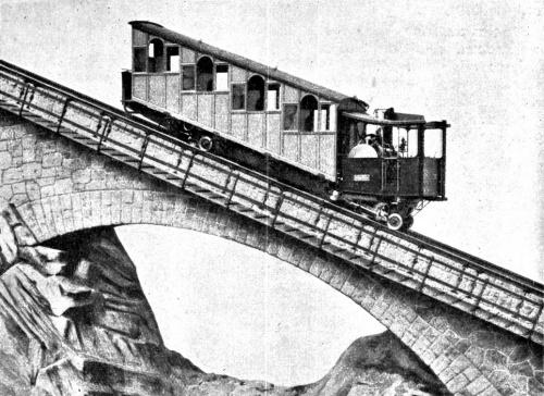 La Pilatusbahn in una vecchia stampa - Immagine tratta da de.academic.ru
