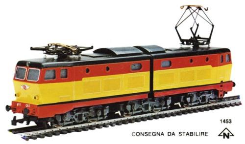La 656 nei colori TEE annunciata nel catalogo Rivarossi, ma mai giunta ai negozi. Immagine da http://www.miol.it/stagniweb