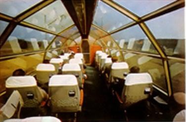 Interno di una carrozza panoramica DB (non ristorante)