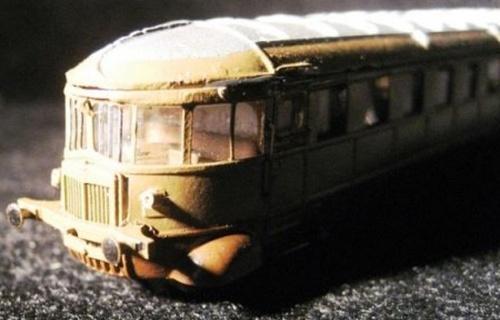 Dettaglio di una ALn56 montata da Salvatore Spinelli, che ne ha ideato la motorizzazione