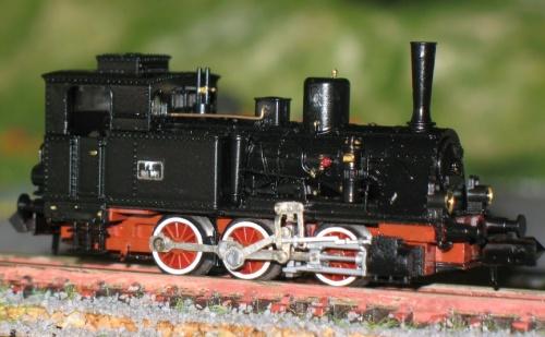 Vista laterale della FS 999.005 RCR - modello dalla Collezione Angioy