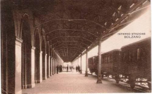 Sul primo binario della stazione di Bolzano -