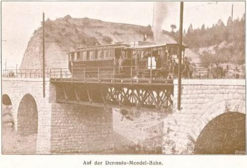 Automotrice a vapore sulla Dermulo-Mendola