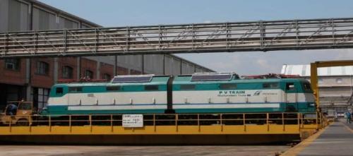 E.636 PVTrain su un ponte trasbordatore