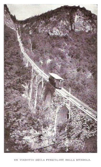 Funicolare della Mendola nel 1932 - Foto tratta da un post di Corrado Sala su www.ferrovie.it/forum