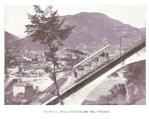 Funicolare del Virgolo nel 1932 - Foto tratta da un post di Corrado Sala su www.ferrovie.it/forum
