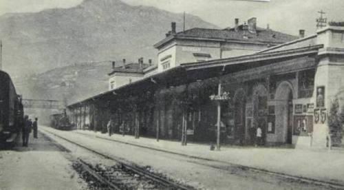 Interno della vecchia stazione di Trento