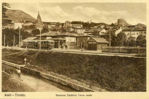 La stazione Torre Verde, capolinea della Trento-Malè