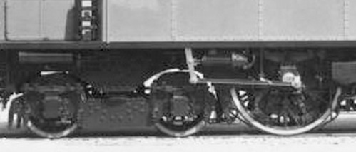 Biellino della E.326. SI vede bene anche il carrello Ap 1100