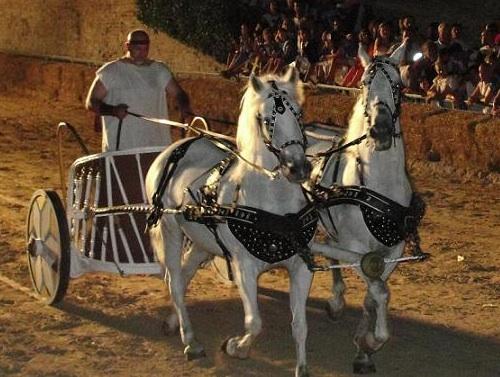"""Biga romana alla """"Fano dei Cesari"""". Foto da www.agriturismiurbino.com"""