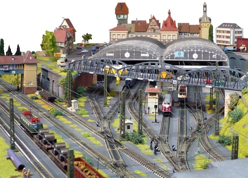 La stazione di testa di Dieter - foto da www.modellbahn-traumanlagen.de