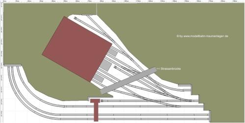 Schema della parte visibile del tracciato. Immagine da www.modellbahn-traumanlagen.de