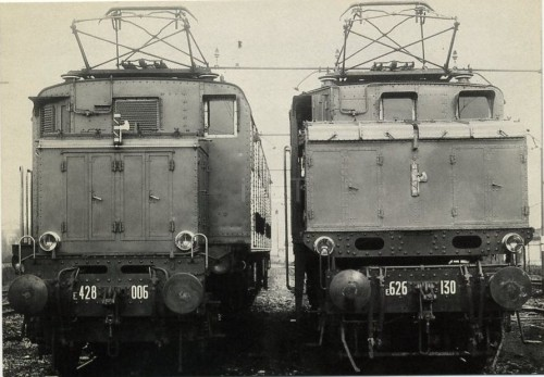 E.428.006-ed-E.626.130 con i fasci nel 1934 a Firenze. Foto da Marco Minù.