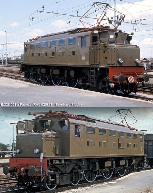 Due stupende immagini di Bernhard Studer mostrano la 001 dopo l'uniformazione alle macchine di serie. Foto © tratte da Marklinfan, originali da photorail.com.