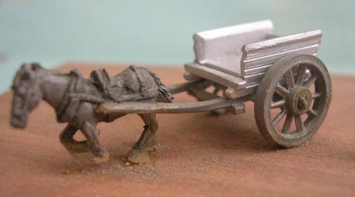 Carro con cavallo in scala N, prodotto da Fleetline.