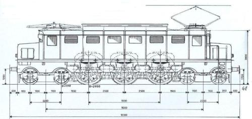 Schema delle E.326 prototipo
