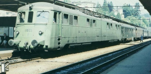 Holland Italien Express a Lugano nel 1959 - Foto © Augustus da www.ferrovie.it/forum