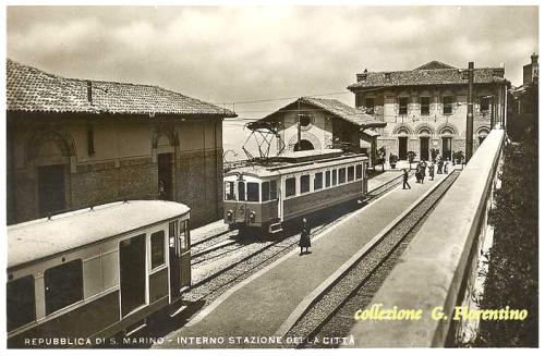 Vecchia immagine della stazione della Repubblica di San Marino.