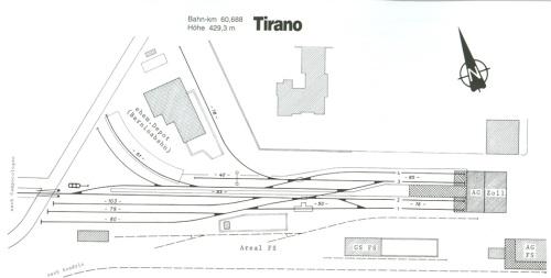 Schema della stazione RhB di Tirano