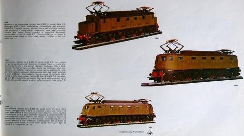 Il terzetto al completo sul catalogo Rivarossi 1972-73.