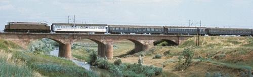 """Nel Giugno 1975, in transito nei pressi di Rimini, ancora un """"incarico"""" importante per un 438 prima serie. Foto © Bernhard Studer da www.ilmiotreno.com"""