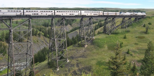 Empire Builder @Two Medicine Trestle - Foto Steve Wilson, CC BY-SA 2.0