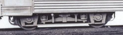 I carrelli Görlitz delle vetture Piaggio. Dettaglio d Foto FS.