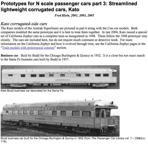 Una dele pagine del sito di Fred Klein