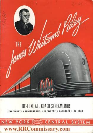 Manifesto pubblicitario del Riley - si può notare la fascia rossa che partiva dalla locomotiva e correva lungo il convoglio