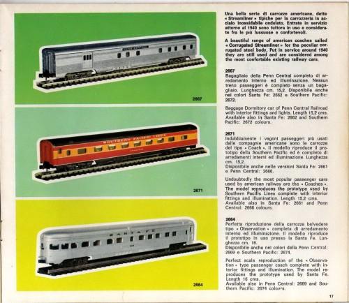 Pagina 17 del catalogo Atlas-Rivarossi del 1971, da RIvarossi Memories