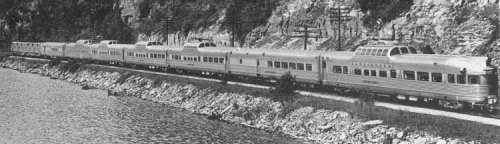 Burlington Twin Cities Zephyr, 1947 –1970 Foto del 1953 tratta http://www.trainweb.org/fredatsf, Fred Klein,