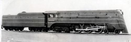 Una Hudson di C&NW - foto da dieselpunk.org . Lo schema di colore era verde scuro con righe gialle.