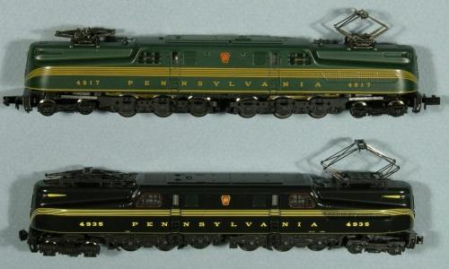 Le GG1 di Arnold (Green) e Kato (Maroon). Da forum.atlasrr.com/