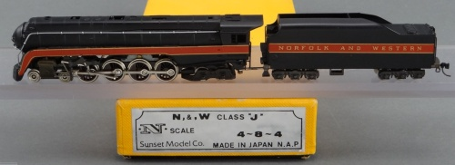 SUNSET MODEL CO. - NORFOLK & WESTERN 4-8-4 CLASS J da www.brasstrains.com