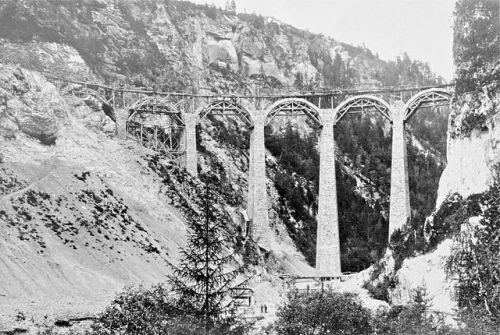 Costruzione del Viadotto, Settembre 1902 (da Wikipedia)