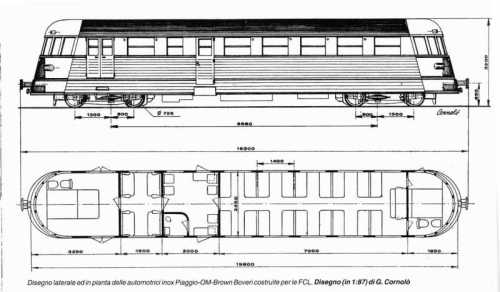 Schema della M2 serie 50. Disegno Cornolò. Un grazie speciale a Giacomo Spinelli che mi ha procurato questo introvabile schema!