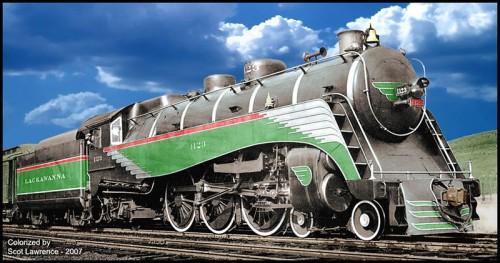 LA 1123 - immagine colorata per rendere l'aspetto originario della motrice - da www.railroad.net/