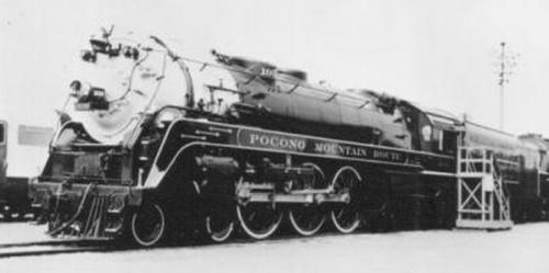 DL&W 1939 - la Hudson presentata alla fira del 1939, caratterizzata da due strisce metalliche lungo la fiancata. Foto da ogrforum.ogaugerr.com/
