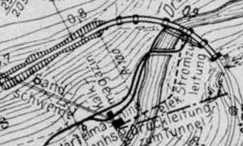 Morfologia del terreno nei pressi del ponte