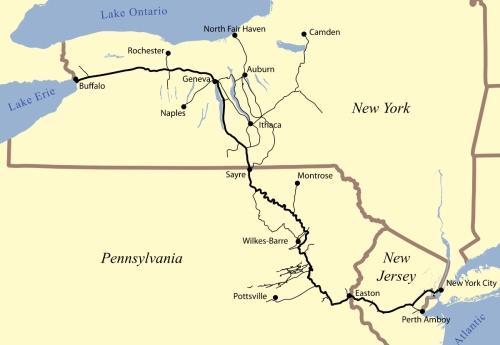 Mappa della Lehigh Valley RR - da Wikipedia