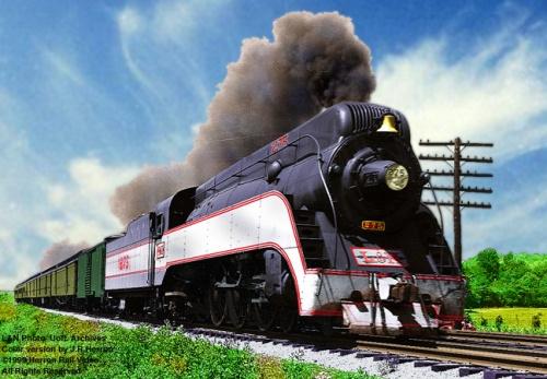 L&N 275 in una foto colorata per rendere l'idea dell'aspetto della livrea - da www.herronrail.com
