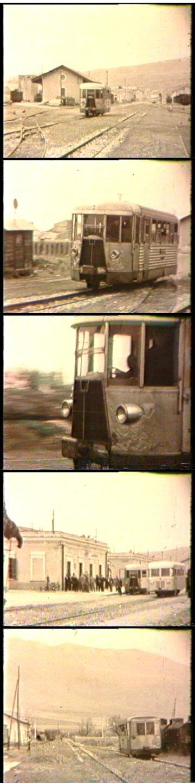 L M1c 80 arriva, nel 1953, alla stazione di Castrovillari. Si avvicina, ci passa davanti e va a fermarsi in stazione dove incrocia la M1c 90. Poi riparte. Immagini tratte dal sito di Roberto Troiano.