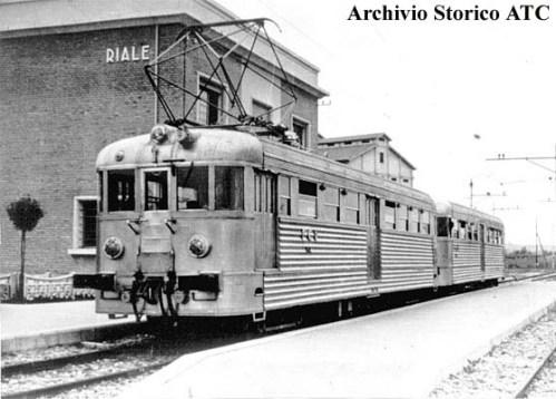 Il binato Piaggio a Riale nel 1940 - foto da www.ilmondodeitreni.it
